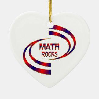Math Rocks Ceramic Heart Decoration