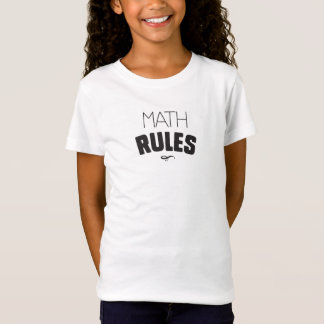 Math Rules - Black Type T-Shirt
