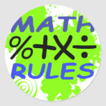 Math Rules Stickers