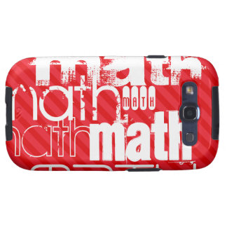 Math; Scarlet Red Stripes Samsung Galaxy S3 Covers
