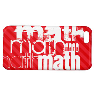 Math; Scarlet Red Stripes Cover For iPhone 5C