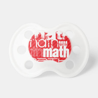 Math; Scarlet Red Stripes Baby Pacifier