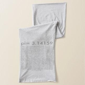 Math Science Love Scarf pi = 3.14159 Heather Grey