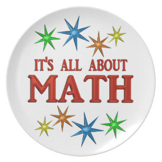 Math Stars Party Plate