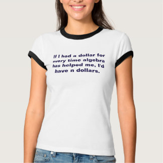 Math Teacher Algebra Equation Pun N Dollars Tshirt
