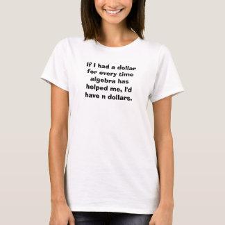 Math Teacher Algebra Equation Pun Tshirt
