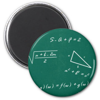 math teacher algebra geek 6 cm round magnet