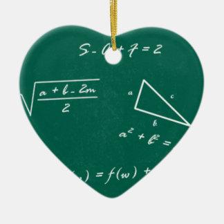 math teacher algebra geek ceramic heart decoration