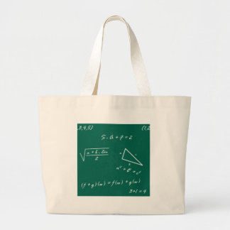 math teacher algebra geek large tote bag
