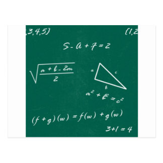 math teacher algebra geek postcard