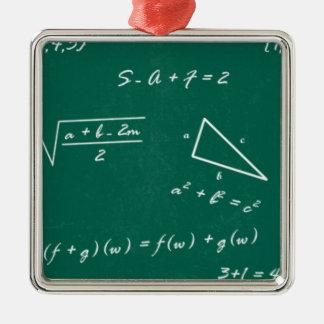 math teacher algebra geek Silver-Colored square decoration
