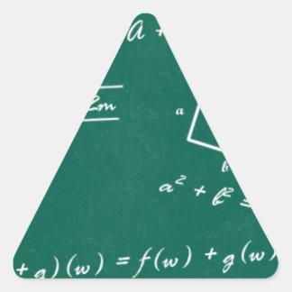 math teacher algebra geek triangle sticker