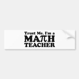 Math Teacher Bumper Sticker