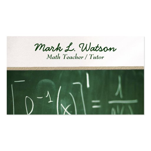 Math Teacher Business Card