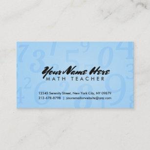 For math teachers business cards zazzle au math teacher business cards reheart Gallery