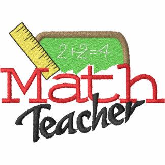Math Teacher Embroidered Shirt