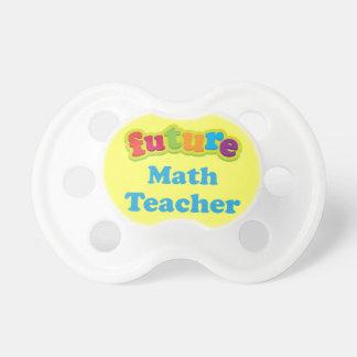 Math Teacher (Future) Pacifier Infant Gift