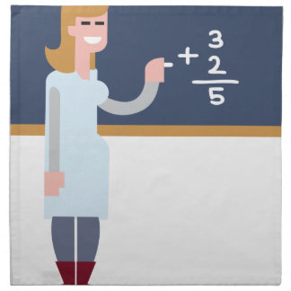Math Teacher Napkin