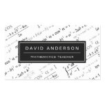 Math Teacher Stylish Mathematics Formulas Pattern Pack Of Standard Business Cards