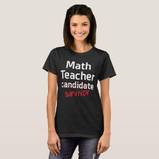 Math Teacher Survivor College Degree T-Shirt