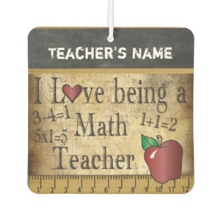 Math Teacher Vintage Unique Style Car Air Freshener