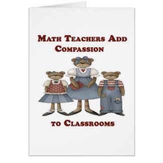 Math Teachers Add Compassion to Classrooms Card