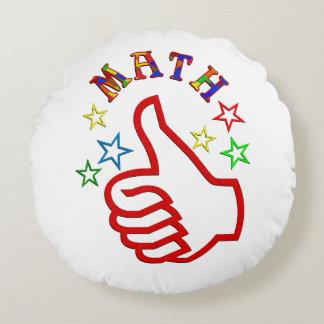 Math Thumbs Up Round Cushion