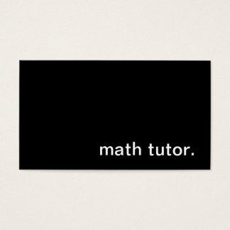 Math Tutor Business Card