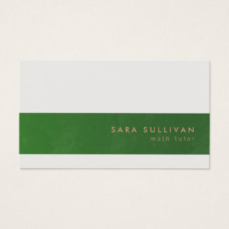 Math Tutor Business Card Elegant Stripe