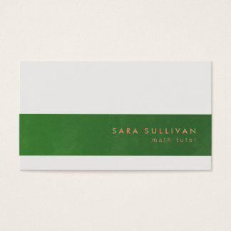 Math Tutor Business Card Elegant Stripe