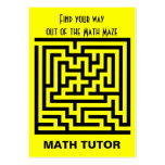 Math Tutor Business Card Templates