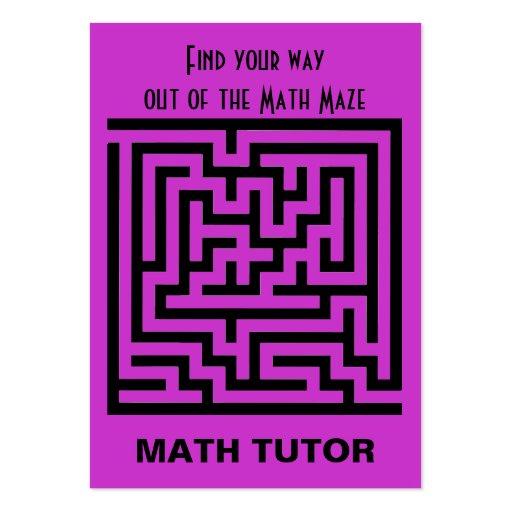 Math Tutor Business Card Design