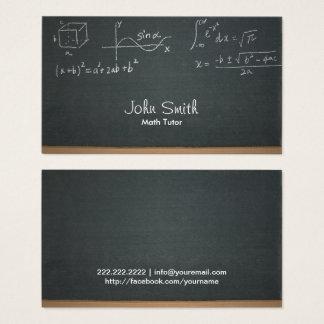 Math Tutor Professional Chalkboard Business Card