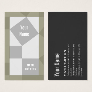 Math Tutor Pythagoras Theorem Business Cards