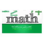 Math tutor tarjeta de visita