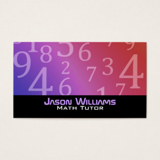 Math Tutoring Business Cards