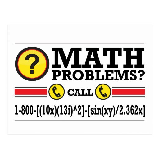 Math Tutoring Humor Gift Postcards