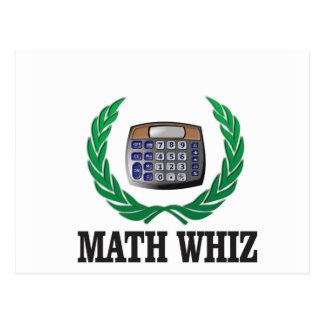 math whiz kid postcard