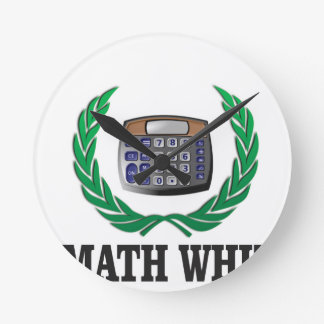 math whiz kid wall clock