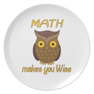 Math Wise Dinner Plates