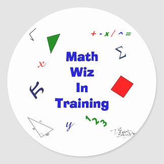 Math Wiz in Training Classic Round Sticker