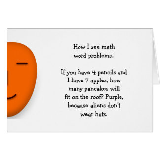 Math Word Problems.. Funny Quote Send a Smile Card