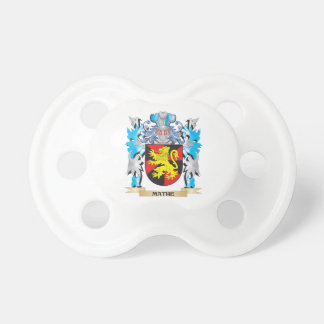 Mathe Coat of Arms - Family Crest Baby Pacifier