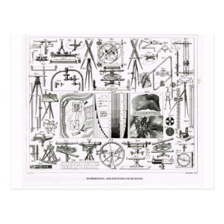 Mathematical and surveying instruments postcard