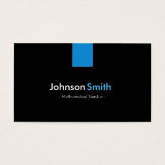 Mathematical Teacher Modern Aqua Blue Business Card