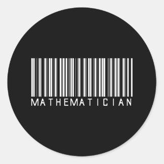 Mathematician Bar Code Classic Round Sticker