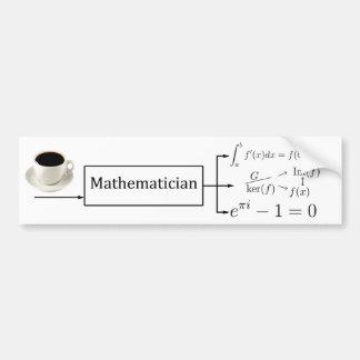 Mathematician machine car bumper sticker