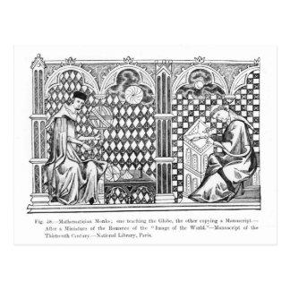 Mathematician Monks: one teaching the Globe Postcard