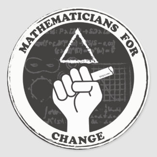 Mathematicians for Change stickers