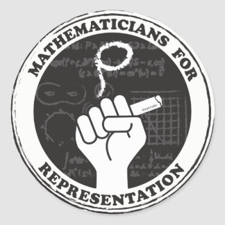 Mathematicians for Representation stickers